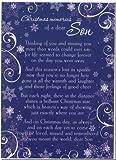 Grave Card - Christmas Memories Of A Dear Son - Free Card Holder - CM07