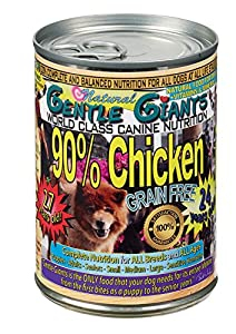Gentle Giants All Natural Grain Free 90% Chicken, 13oz, Case of 12