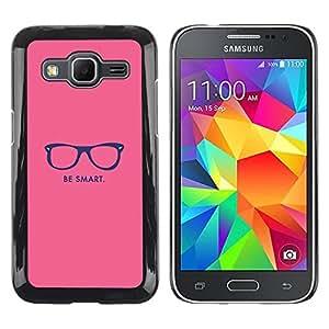 TopCaseStore / la caja del caucho duro de la cubierta de protección de la piel - Hipster Motivational Pink - Samsung Galaxy Core Prime SM-G360