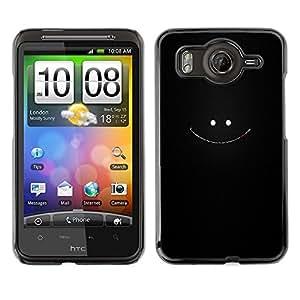 Caucho caso de Shell duro de la cubierta de accesorios de protección BY RAYDREAMMM - HTC G10 - Cara sonriente