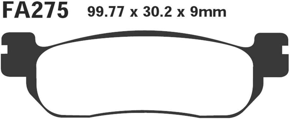 Ebc Scooter Bremsbeläge Organisch Für Yamaha Fiz T 105e T 105 V 110 At 115 At 115 Vp 250 Yp 250 Yp 250 Yp 250 Italjet Jupiter 125 150 Linhai Monarch 125 150 Main Street Mbk Yp 125 Yp 250 Yp 250 Auto