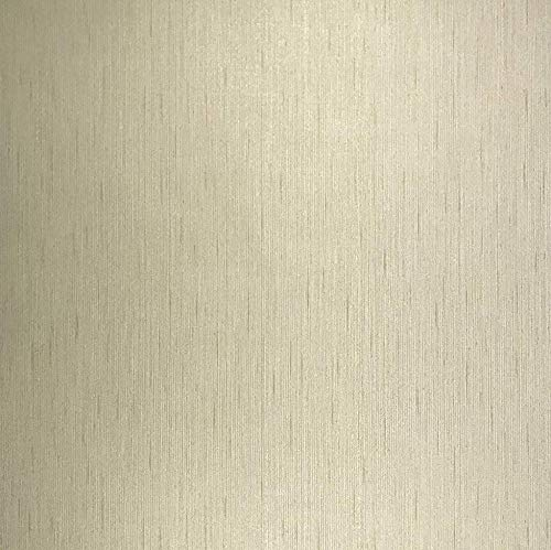 76 sq.ft Made in Italy Portofino Textured wallcoverings Rolls Modern Embossed Vinyl Non-Woven Wallpaper Gold Metallic Lines Ivory Faux Striped Cloth Fabric Design Textures Plain Paste The Wall only ()