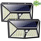 Solar Lights Outdoor 254LEDs [Newest 270° Wider Angle Ultra-Bright] IP65 Waterproof Motion Sensor Wall Light with 3 Working Models, Wireless Security Night Light for Garden,Patio,Backyard,Patch,Pathways-2 Packs
