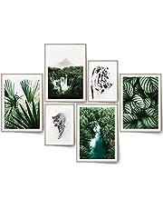 BLCKART Beige Love Afbeeldingen Set Stijlvolle Dubbelzijdige Pampasgras Poster Natuurlijke Grassen Woonkamer Decoratie Boho (L   4x A3   2x A4   zonder lijst, EXOTIC DREAM)