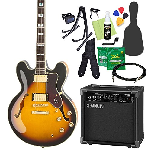 Epiphone SHERATON II PRO VS エレキギター 初心者14点セット ヤマハアンプ付き エピフォン   B07CNPWT6J