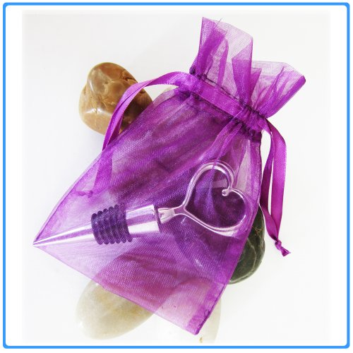 30pcs Plum Wedding Organza Favor Gift Bags 4x6 inch Jewelry Plum