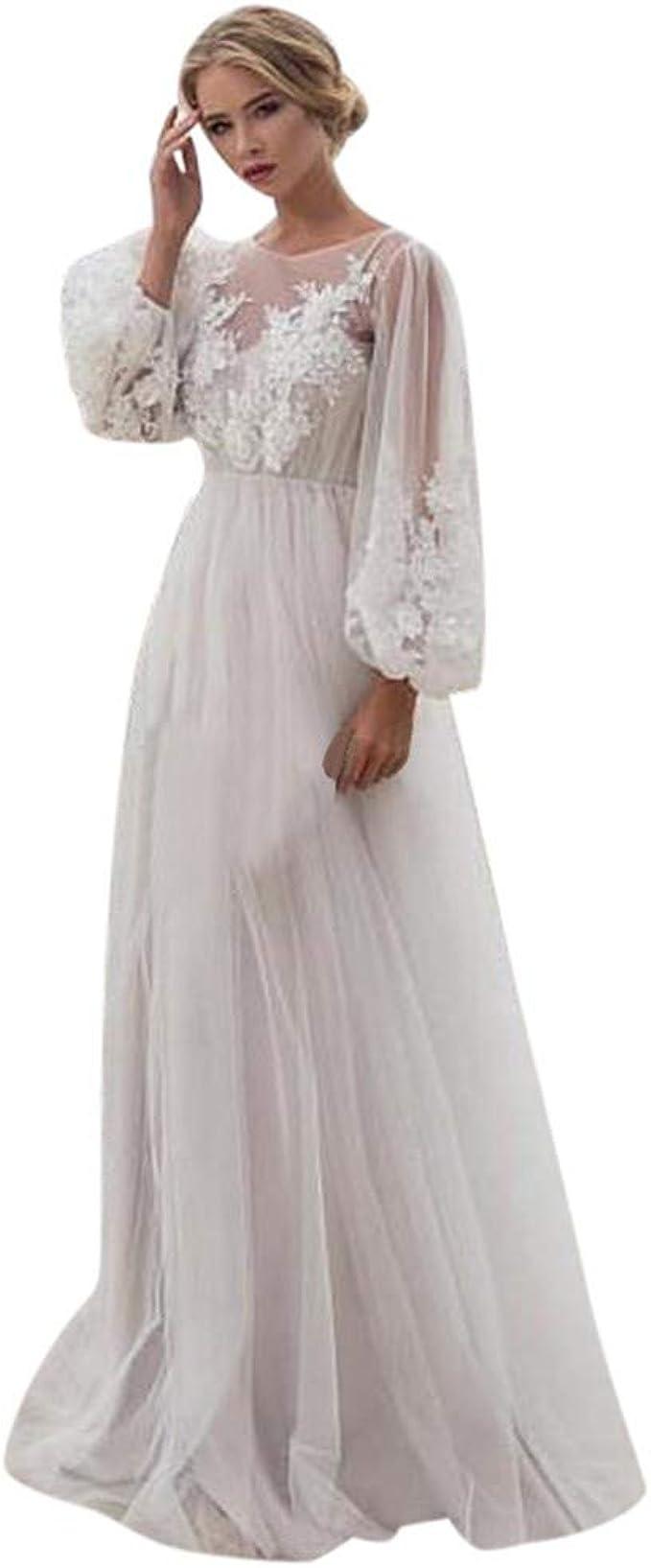 Leey Hochzeitskleid Abendkleid Lang Festlich Kleid Maxikleid