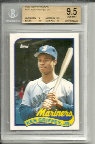 1989 topps traded ken griffey jr rookie graded bgs 9.5 from Topps