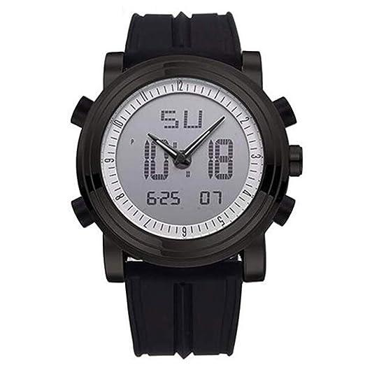 Sinobi SPORT Military hombre reloj de goma reloj digital cuarzo hora dual luminosa día fecha relojes negro: Amazon.es: Relojes