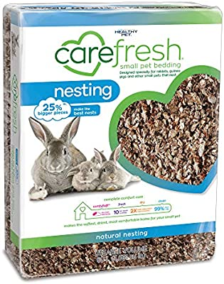 Amazon Com Carefresh 99 Dust Free Natural Paper Nesting Small Pet Bedding With Odor Control 60 L Pet Supplies