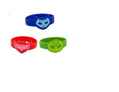 12 pack PJ Masks Wristbands (4 Catboy, 4 Owlette, 4 Gekko) Party