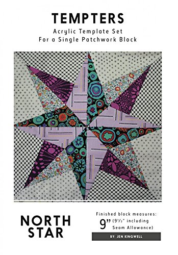 North Star Tempters Acrylic Template Set Jen Kingwell 9'' Block by Jen Kingwell