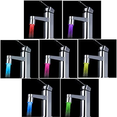 Rubinetto Led Come Funziona.Anself Led 7 Colori Che Cambiano Luce Di Incandescenzadel Flusso