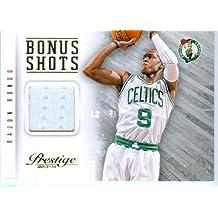 2013 Prestige Authentic Rajon Rondo Game Worn Jersey Card