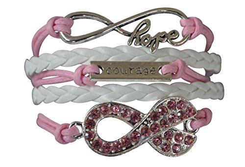 Infinity Collection Breast Cancer Bracelet, Cancer Survivor Bracelet,Cancer Awareness, Pink Ribbon, Cancer Survivor Gift