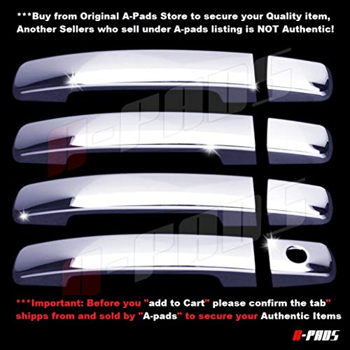 For Toyota 4RUNNER 2003-2006 2007 2008 2009 Chome 4 Door Handle Covers W Keyhole