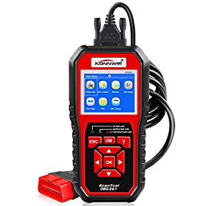OBDII Auto Diagnostic Code Scanner KONNWEI KW850 Universal Vehicle Engine System Scanner OBD2 EOBD Scanners Tool Check Engine Light Code Reader for all OBD II Cars Since 1996【2018 Upgraded Version】