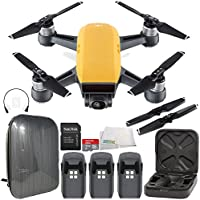 DJI Spark Portable Mini Drone Quadcopter Hardshell Backpack Ultimate Bundle (Sunrise Yellow)