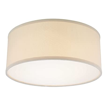 free shipping 138d8 132ea Decorative Ceiling Trim for Recessed Lights with Beige Drum ...