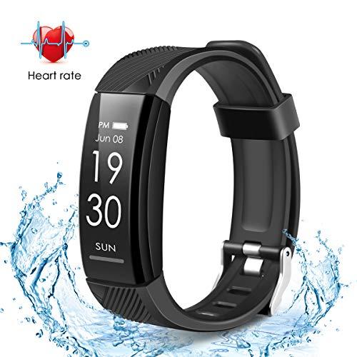 DAPRIL Fitness Tracker, Custom Activity Tracker with Heart Rate Monitor, Multiple Sport Modes Smart Watch Men, Women and Children Waterproof Bluetooth Pedometer