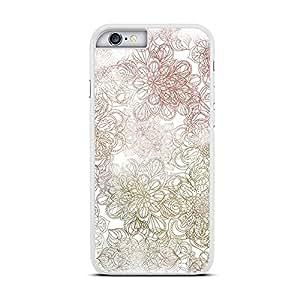 Funda carcasa para Apple iPhone 6 6S estampado mandala colores borde blanco