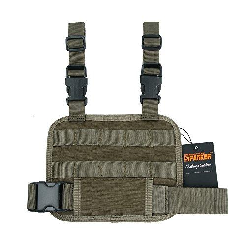 EXCELLENT ELITE SPANKER Tactical MOLLE Adjustable Detachable Holster Drop Leg Platform(Ranger Green)