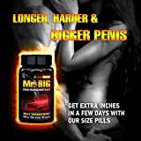 - 51te3zypJhL - Mr. Big Male Enhancement Penis Enlargement Pills, Extra Inches NATURALLY, High Potency Testosterone Booster, Increase Blood Flow, Erections, Energy, Stamina, Vitality, Mood, Libido, Sexual Performance
