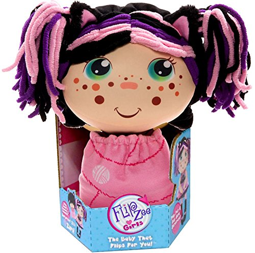Homemade Kids Halloween Costumes Unique (Flip Zee Girls Zuri Kitty Cat Sweet and Cuddly 2-in-1 Plush Doll)
