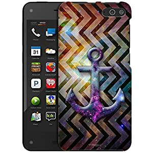 Amazon Fire Case, Slim Fit Snap On Cover by Trek Anchor on Nebula Cosmic Vertical Chevrons Case