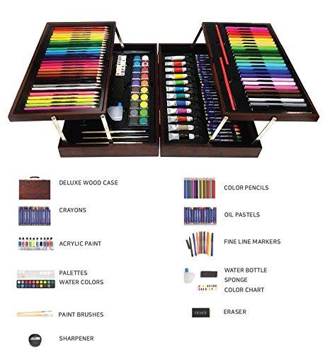 Dream Art Premium Wooden Case Coloring Set n Books by DREAM ART