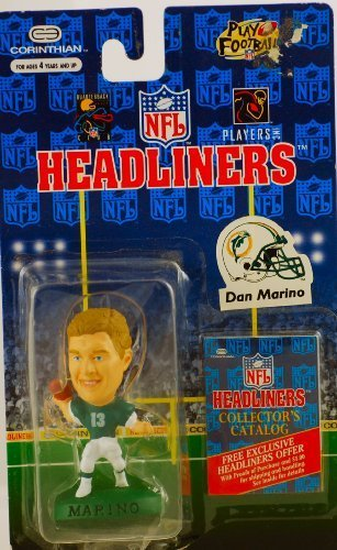 DAN MARINO / MIAMI DOLPHINS * 3 INCH * 1996 NFL Headliners Football Collector Figure by Headliners (Dolphins Head Miami Bobble)