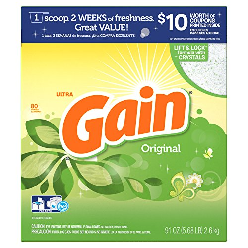 (Gain HEC Ultra Original Powder Laundry Detergent, 80 Loads, 91 Oz )