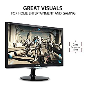 ViewSonic VX2452MH 24 Inch 2ms 60Hz 1080P Gaming Monitor with HDMI DVI and VGA inputs