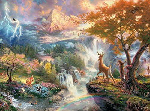 Ceaco Thomas Kinkade The Disney Dreams Collection Bambi Jigsaw Puzzle