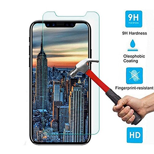 iPhone X Screen Protector, 2 Pack Tempered Glass Anti-fingerprint High Light Penetration Ratio 9H Hardness Anti-scratch Bubble Free