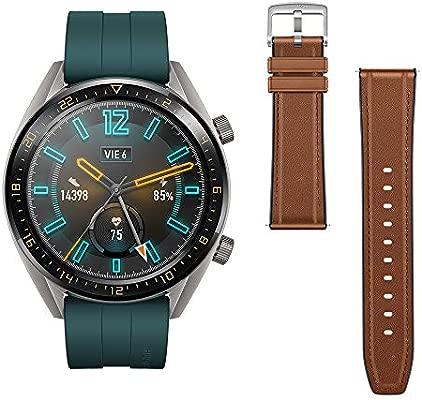 Huawei Watch GT Active - Reloj Inteligente, Verde, 46 mm, Reloj+Correa