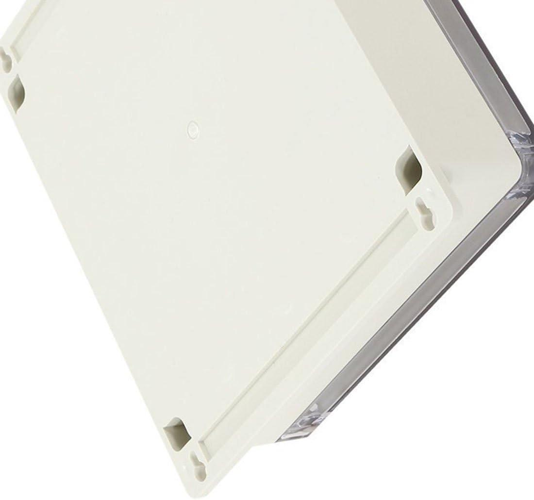 Moligh doll 7,6 pouces x7,4 pouces x2,8 pouces 192 mm x 188 mm x 70 mm Boite de jonction ABS Enceinte de projet universelle w Pc couverture transparente