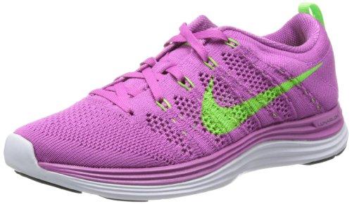Nike Women s Flyknit Lunar1 Club Pink Electric Green White Running Shoe 8 Wo.