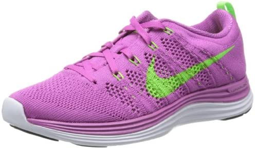 Nike Women s Flyknit Lunar1 Club Pink Electric Green White Running Shoe 8 Wo.