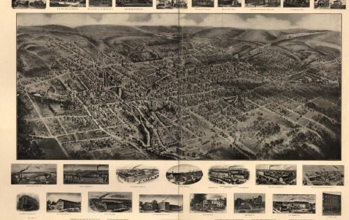 Historic Panoramic Maps of Connecticut on CD