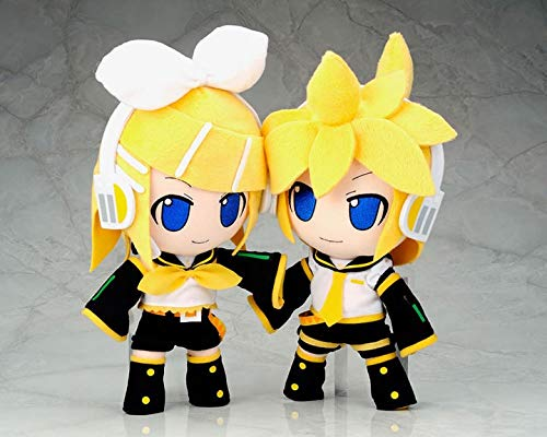 PAPWELL Set 2 Vocaloid Plush 10 inch Rin Len Kagamine Big Soft Toy Large Toys Stuffed Gift Collectable Christmas Halloween Birthday Gifts Cute Doll Animal Collectibles Cool New Collectible for -
