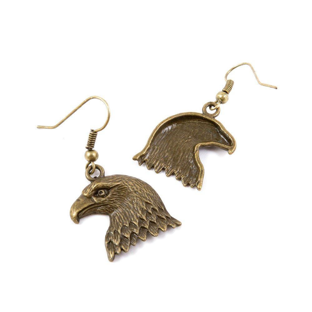 1 Pair Earring Jewelry Making Charms Antique Bronze Findings Hooks Supplies Wholesale Supply Handmade Z2WA1 Eagle ChinaTownUS