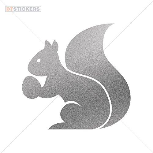 Sticker Squirrel Figure durable Boat (6 X 5,86 In. ) Matte Metallic Silver