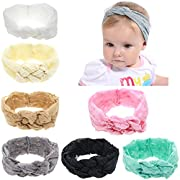 inSowni Lace Celtic Knot Headband Bulk for Infant Baby Girl Kids Toddlers