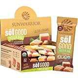 Sunwarrior - Sol Good Protein Bar, Organic, Refined Sugar-Free & Vegan, Brown Rice, Pea & Quinoa Protein (Salted Caramel)