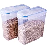 THETIS Homes Cereal Container,(2 Pack),Watertight and Airtight Dispenser with 4 Locking Lids,4L ,135.2 Oz