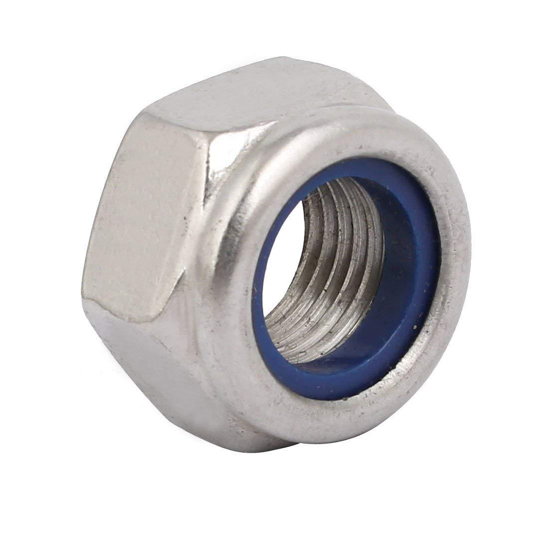 Dadi di bloccaggio esagonali in acciaio inox 304 con filettatura fine metrica a passo fine ZKXD 4 pezzi M14 x 1,5mm
