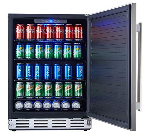 Kalamera 24 Stainless Steel Beverage Cooler – Soda and Beer Refrigerator – Drinks Fridge for Home and Commercial Use
