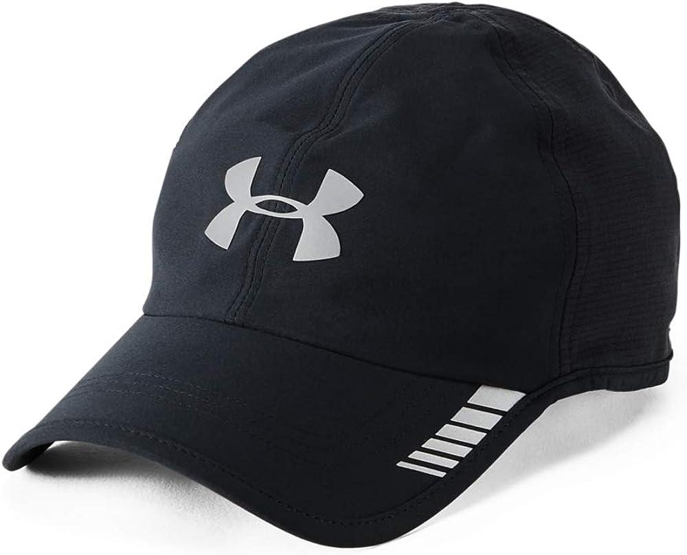 Logro pedir disculpas pellizco  Amazon.com: Under Armour Men's Launch ArmourVent Cap , Black (001)/Silver ,  One Size Fits All: Clothing