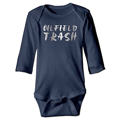 [Oilfield Trash Platinum Style Navy Baby Long Jumpsuit] (Trailer Trash Outfits)